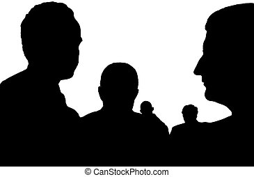 incognito persons - silhouette of an unknown, incognito...