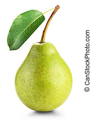 pears isolated on white background. Clipping Path