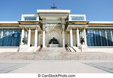 the Parliament building - Ulan Bator / Ulaanbaatar,...