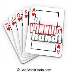 A Winning Hand Royal Flush Playing Cards Words - A Winning...