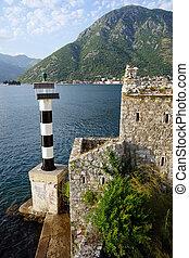 Lighthouse and church