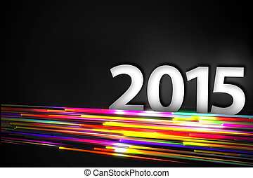 2015 Bottom Rainbow straight Line Glow Dark Background