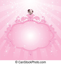 Princess pink frame - Princess Love pink frame. Perfect for...