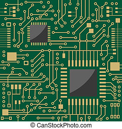 Seamless microcircuit as a technology concept or background