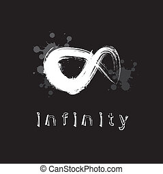 infinity symbol on black background