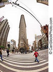 Flat Iron building - NEW YORK, NY, USA - OCT 12, 2012 : Flat...