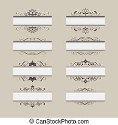 Vintage Vector Frame Border Set - Set of vintage vector...