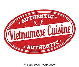 Vietnamese cuisine stamp - Vietnamese cuisine grunge rubber...