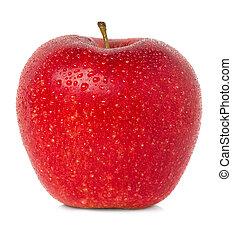 maçã, água, gotas
