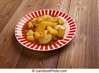 Candied Sweet Potatoes - close up