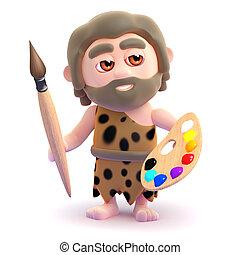 Cavernícola,  3D, artista