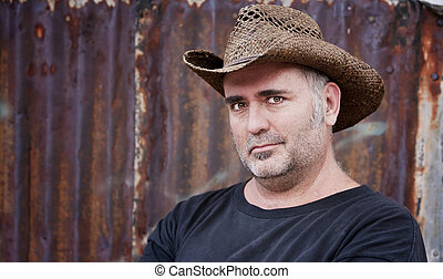 Man in Cowboy Hat