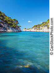 Famous calanque of Port Pin - Calanques of Port Pin in...