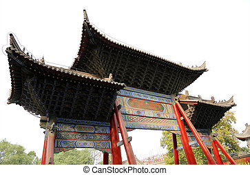 entrance to a Buddhist temple -- Xian Sian, Xian, Shaanxi...