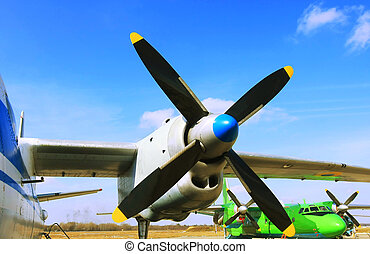 aircraft propeller - two bladed propeller of powered glider