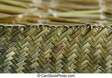 Maori weaving artwork
