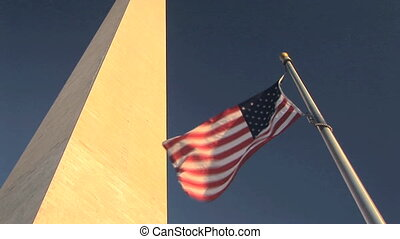 Washington Monument - Looking up at the Washington Monument...