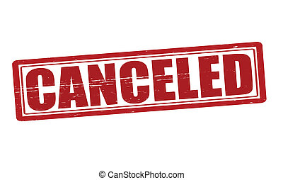 Canceled - Stamp with word canceled inside, vector...