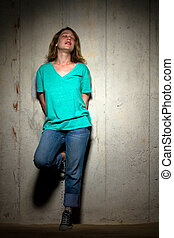 Young woman in casual clothing - beautiful Young woman in...