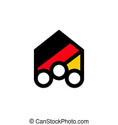 People of Germany abstract sign - Branding identity...