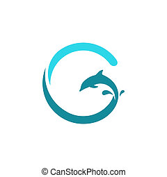 Sign the letter G, dolphin - Branding identity corporate...