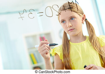 schoolgirl, inteligente