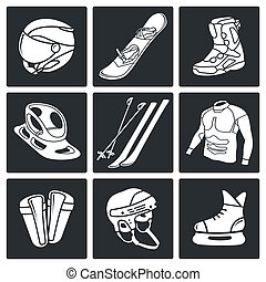 Winter sports icon collection