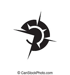 Wind rose sign - Branding identity corporate logo isolated...