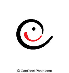 Curve Smile vector sign - Branding identity corporate logo...