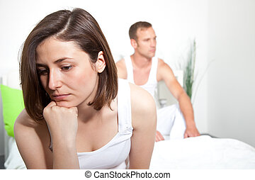 Frustrated woman experiencing intimacy problems - Frustrated...