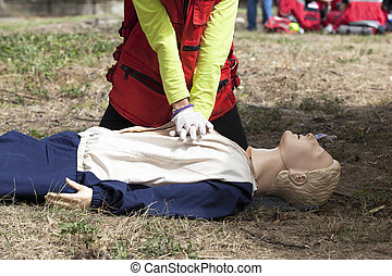 first aid - CPR training detail