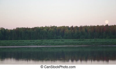 Pinyega River of Arkhangelsk Oblast in Russia