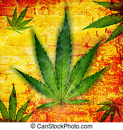 Cannabis leaf, marijuana plant - Cannabis leaf, marijuana,...