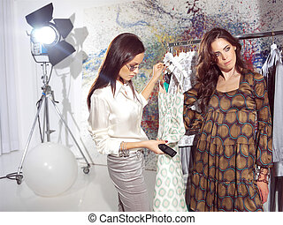women in haute couture sam - woman in fashion atelier haute...
