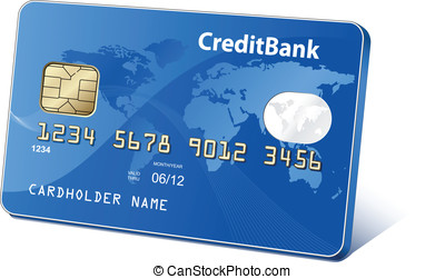 Credit card - Credit plastic payment card. Payment concept....