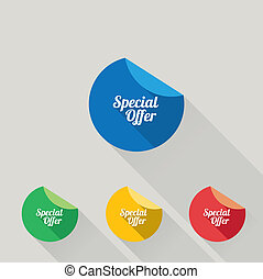 Flat design sale discount Special offer button