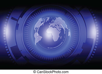 globalization technology and Mechanical abstract background