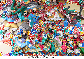 templos, deidades, Estatuas, chino