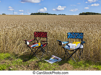 The Chairs of Spectators of Le Tour de France - Two chairs...