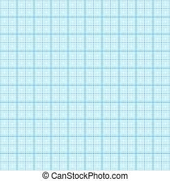 Millimeter paper seamless - Blue millimeter paper, vector...