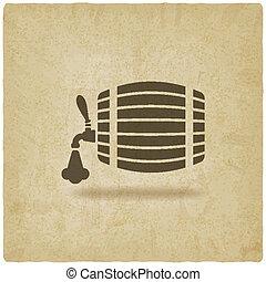 beer barrel old background - vector illustration. eps 10
