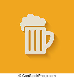 beer mug design element - vector illustration. eps 10
