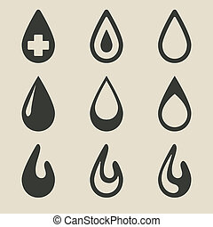 drop icon set - vector illustration eps 8
