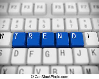 3d keyboard - word trend