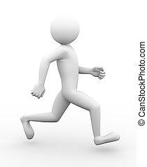3d man running along illustration