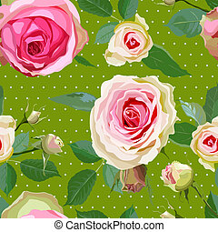 Decorative Floral Seamless Pattern. - Luxurious color...