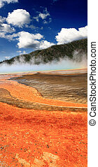 Midway Geyser Basin in Yellowstone - The scenery at Midway...