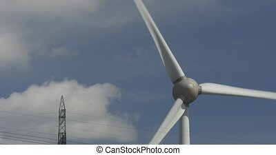 Wind Turbine Close - 4K, Wind Turbine Close. Native camera...