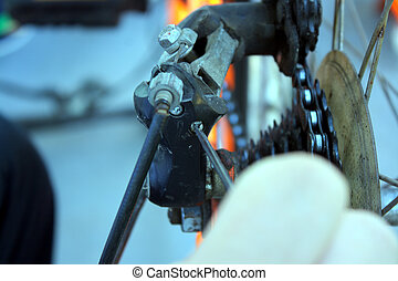 Plantation rear derailleur in cycle