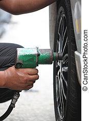 mechanic repaired wheeled vehicles. - mechanic repaired...